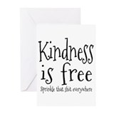 Kindness is free spread that shit everywhere Greeting Cards (20 Pack)
