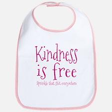 Sprinkle Kindness Pink Bib