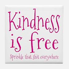 Sprinkle Kindness Pink Tile Coaster