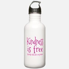 Sprinkle Kindness Pink Water Bottle