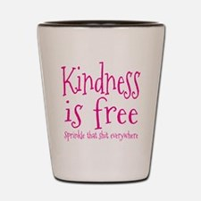 Sprinkle Kindness Pink Shot Glass