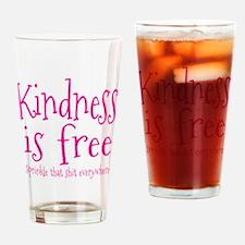 Sprinkle Kindness Pink Drinking Glass