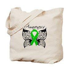 Bile Duct Cancer Butterfly Tote Bag