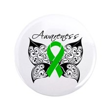 """Bile Duct Cancer Butterfly 3.5"""" Button (100 pack)"""