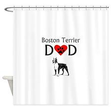Boston Terrier Dad Shower Curtain