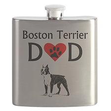 Boston Terrier Dad Flask