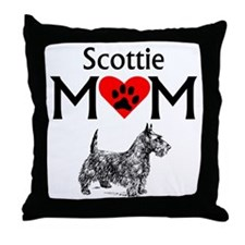 Scottie Mom Throw Pillow