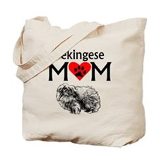 Pekingese Mom Tote Bag