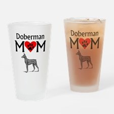 Doberman Mom Drinking Glass