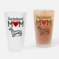 Dachshund Mom Drinking Glass