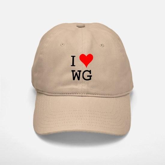 I Love WG Baseball Baseball Cap