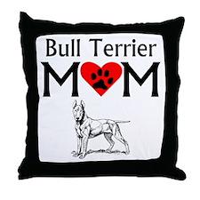 Bull Terrier Mom Throw Pillow