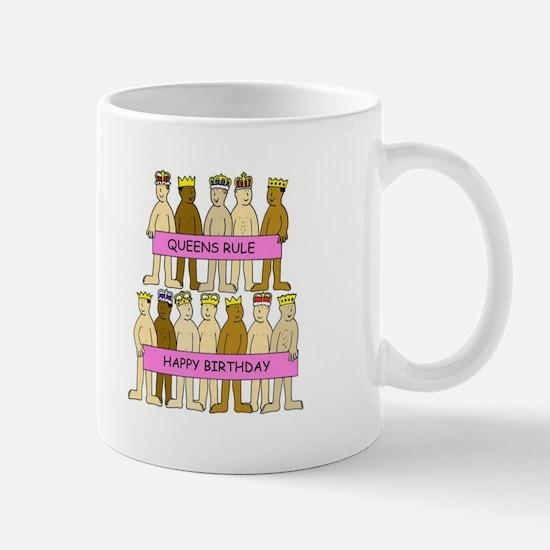 Queens Rule Naked men in crowns. Mugs