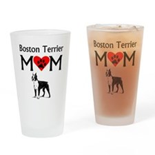 Boston Terrier Mom Drinking Glass