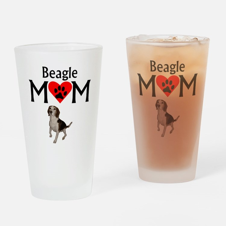 Beagle Mom Drinking Glass