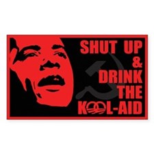 Obama Kool Aid Sticker (rectangle 50 Pk)