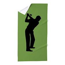 Green Golf Beach Towel