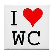 I Love WC Tile Coaster