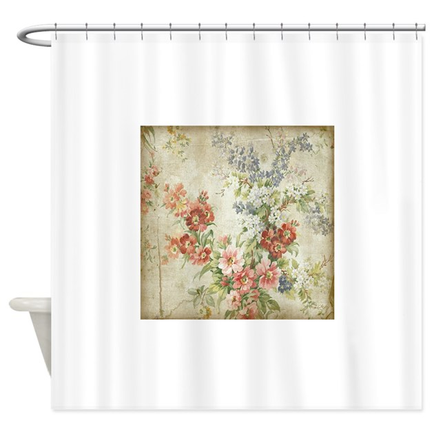 Beautiful Vintage Floral Shower Curtain By Yourperfecthome