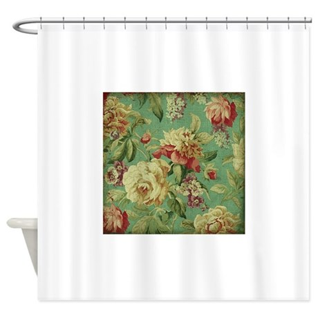 Stunning Chic Vintage Cream Roses Shower Curtain By YourPerfectHome