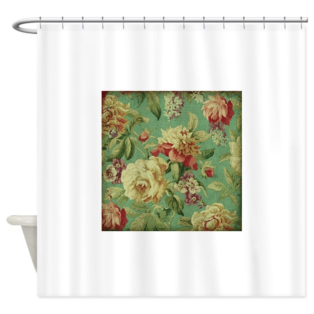 Stunning Chic Vintage Cream Roses Shower Curtain By