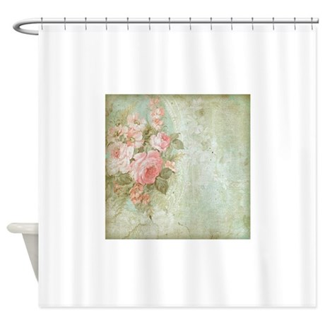 Chic vintage pink rose Shower Curtain by YourPerfectHome