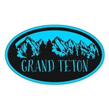 Grand Teton Rustic Mountain Mint Decal