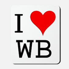 I Love WB Mousepad