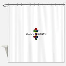 H...O...P... SCOTCH Shower Curtain