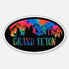 Grand Teton Rustic Mountain Tiedye Decal