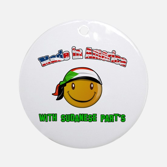 Made in America with Sudanese Ornament (Round)