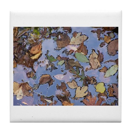 "Ralph Benko ""Cortlandt Leaves"" Custom Tile Coaster"