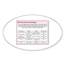 The Hormone Hostage Oval Decal