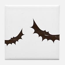 Flying Bats Antique Silhouette Tile Coaster