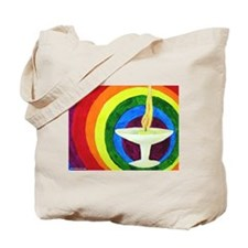 Cool Rainbow chalice Tote Bag