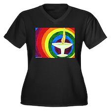 Funny Uu chalice Women's Plus Size V-Neck Dark T-Shirt