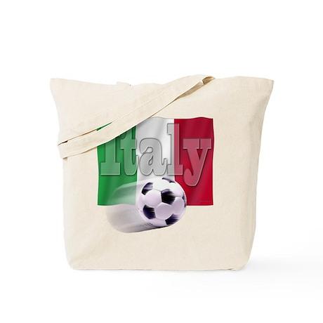Soccer Flag Italy Tote Bag