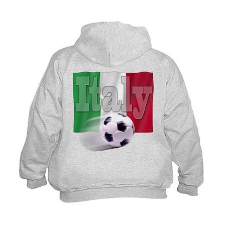 Soccer Flag Italy (B) Kids Hoodie