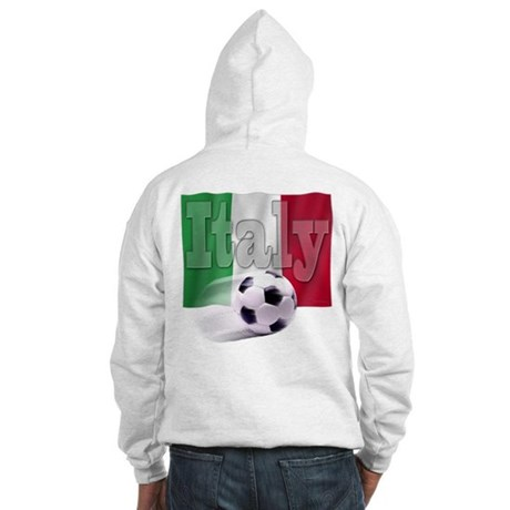 Soccer Flag Italy (B) Hooded Sweatshirt