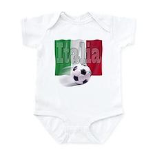 Soccer Flag Italia Infant Bodysuit