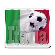 Soccer Flag Italia Mousepad