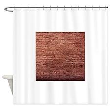 Rustic Rugged Urban Bricks Shower Curtain