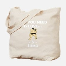 Love And Sumo Tote Bag