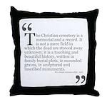 Christian Cemetery Throw Pillow
