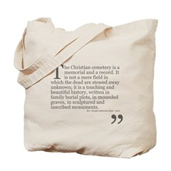 Christian Cemetery Tote Bag