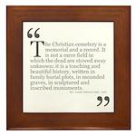 Christian Cemetery Framed Tile