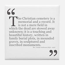 Christian Cemetery Tile Coaster