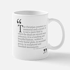 Christian Cemetery Mug