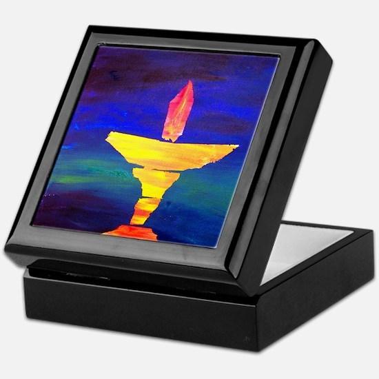 Cute Unitarian universalist chalice Keepsake Box
