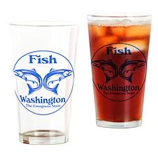 Fish Washington the Evergreen State Drinking Glass